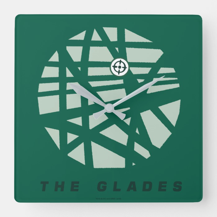 Arrow The Glades City Map Square Wall Clock