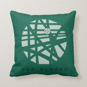 Arrow | The Glades City Map Throw Pillow