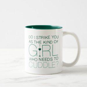 Arrow | The Kind Of Girl Who Needs To Cuddle? Two-Tone Coffee Mug