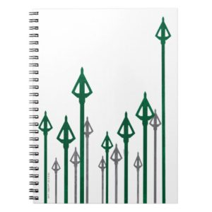 Arrow | Vertical Arrows Graphic Notebook