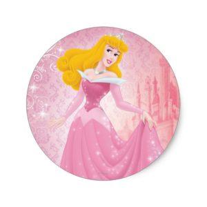 Aurora Princess Classic Round Sticker