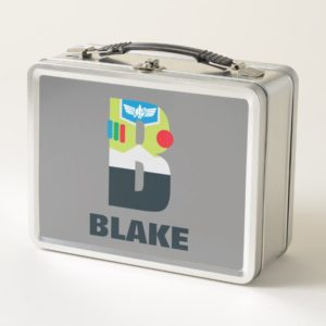B is for Buzz   Add Your Name Metal Lunch Box