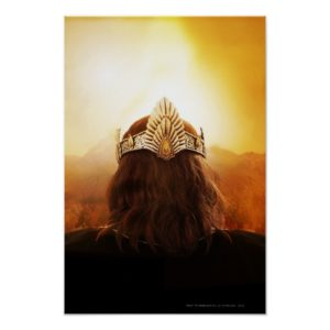 Back of Head with Crown Poster