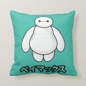 Baymax Green Graphic Throw Pillow