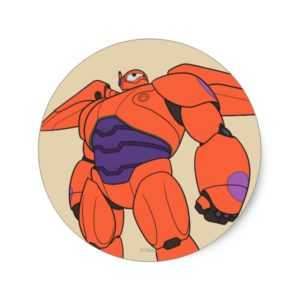 Baymax Orange Suit Classic Round Sticker