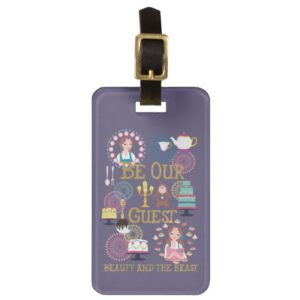 Beauty And The Beast | Be Our Guest Luggage Tag