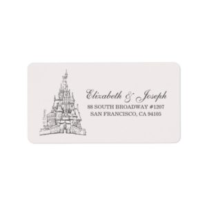 Beauty and the Beast | Fairy Tale Castle Wedding Label