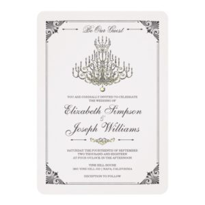 Beauty and the Beast | Fairy Tale Chandelier Weddi Invitation