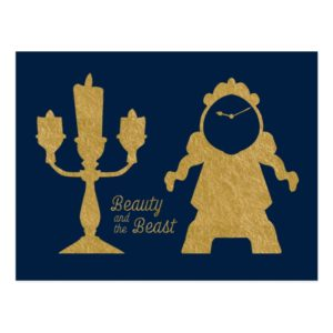 Beauty And The Beast | Lumiere & Cogsworth Postcard