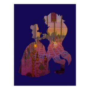 Beauty & The Beast | Silouette Dancing Postcard