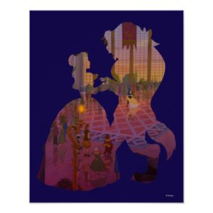 Beauty & The Beast | Silouette Dancing Poster