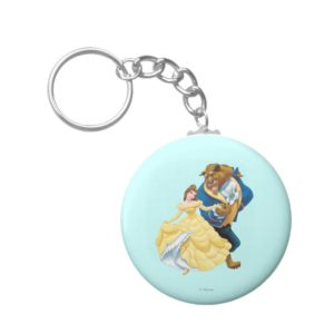 Belle and Beast Keychain