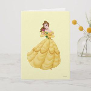 Belle Holding Rose Card