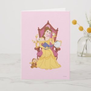 Belle Reading to Friends Card