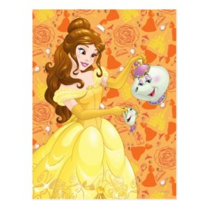 Belle with Mrs. Potts and Chip Postcard