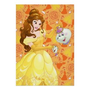 Belle with Mrs. Potts and Chip Poster