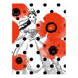 Belle With Poppies and Polka Dots Postcard