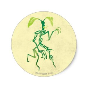 BOWTRUCKLE™ PICKETT™ Typography Graphic Classic Round Sticker