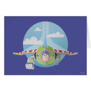 Buzz Lightyear Flying Despeckled Retro Graphic