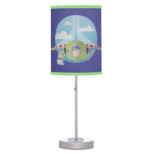 Buzz Lightyear Flying Despeckled Retro Graphic Table Lamp