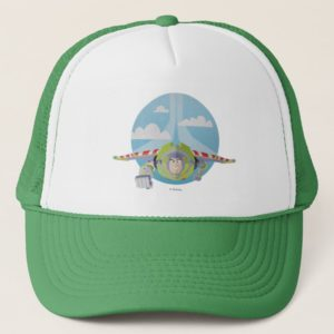 Buzz Lightyear Flying Despeckled Retro Graphic Trucker Hat