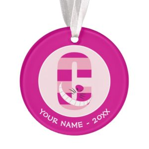 C is for Cheshire Cat | Add Your Name Ornament