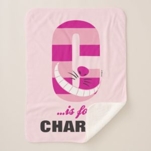 C is for Cheshire Cat | Add Your Name Sherpa Blanket