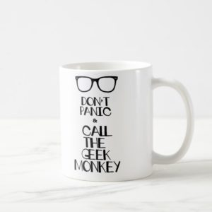Call Geek Monkey Mug