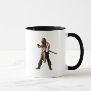 Captain jack sparrow standing drawing sword mug