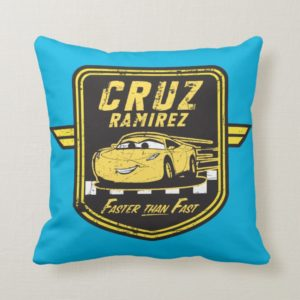 Cars 3 | Cruz Ramirez - Faster than Fast Throw Pillow