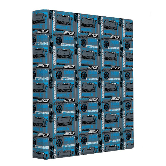 Cars 3 Jackson Storm Storming Through Pattern Binder Custom