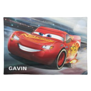 Cars 3   Lightning McQueen - Add Your Name Cloth Placemat