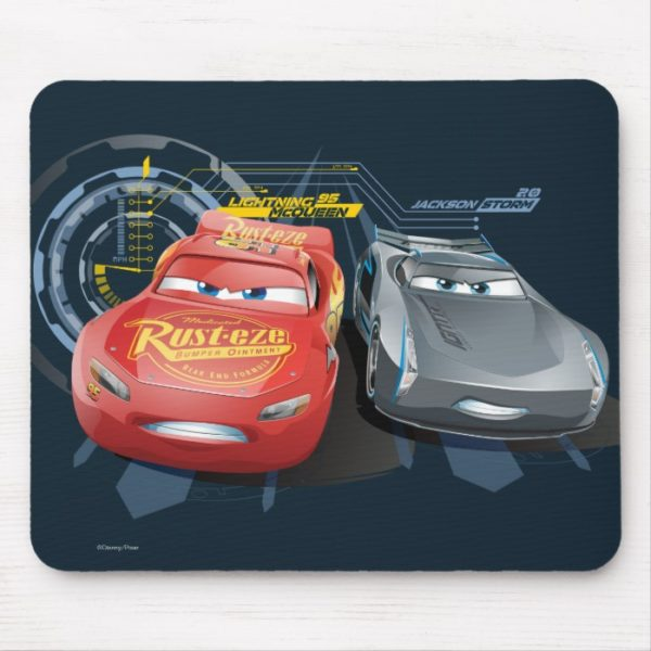 Cars 3 Lightning Mcqueen Jackson Storm Mouse Pad Custom Fan Art