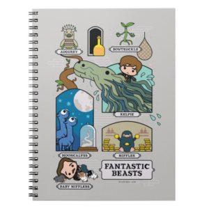 Cartoon Beasts In Habitats Notebook