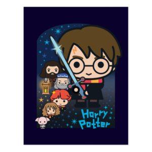 Cartoon Harry Potter Chamber of Secrets Graphic Postcard