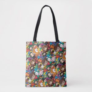 Cartoon Harry Potter Character Toss Pattern Tote Bag