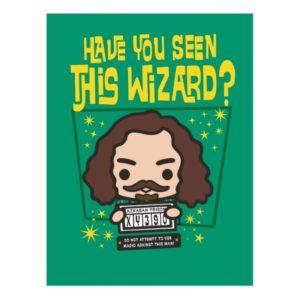 Cartoon Sirius Black Wanted Poster Graphic Postcard