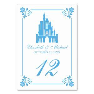 Cinderella Wedding | Castle Table Number