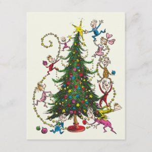 Classic Grinch | Christmas Tree Holiday Postcard