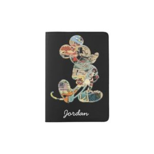 Classic Mickey | Comic Silhouette - Add Your Name Passport Holder