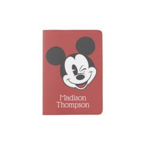Classic Mickey | Head Tilt Wink Custom Name Passport Holder