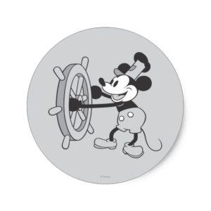 Classic Mickey   Steamboat Willie Classic Round Sticker