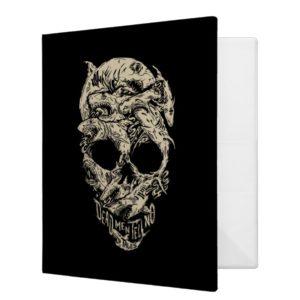 Dead Men Tell No Tales Skull 3 Ring Binder