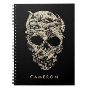 Dead Men Tell No Tales Skull Notebook