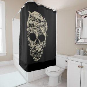 Dead Men Tell No Tales Skull Shower Curtain
