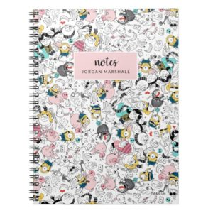 Despicable Me | Colorful Family Doodle Pattern Notebook
