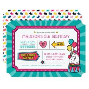 Despicable Me | Fluffy Unicorn Birthday Invitation