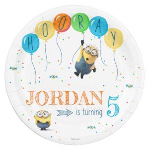Despicable Me | Minion Balloon Birthday Paper Plate