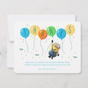 Despicable Me | Minion Balloon Birthday Thank You