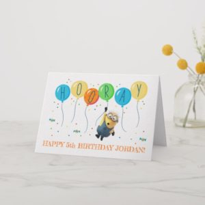 Despicable Me | Minion Balloon Happy Birthday Card